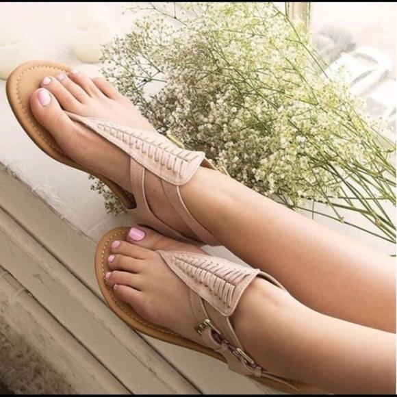Shoes - RILEY  Boho Sandal - NUDE
